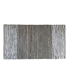 BCBG MaxAzria Leather Metallic Accent Rug