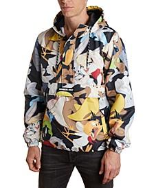 Men's Looney Tunes Character Mash Print Popover Jacket