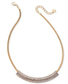 "Pavé Curved Bar Collar Necklace, 17"" + 2"" extender, Created For Macy's"