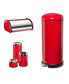 Red Kitchen Canisters - Macy\'s