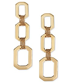 Link & Multi-Chain Triple-Drop Earrings, Created For Macy's