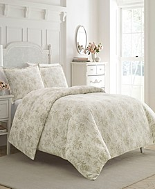 Faye Toile Flannel Full/Queen Duvet Set