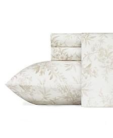 Laura Ashley Faye Toile Flannel Full Sheet Set