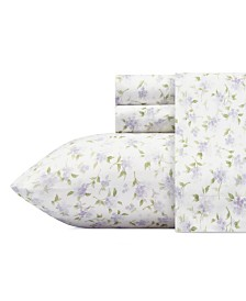 Laura Ashley Virginia Flannel Queen Sheet Set
