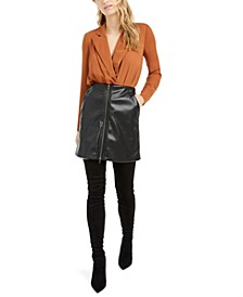 Becca Tilley x Faux-Leather Mini Skirt, Created For Macy's