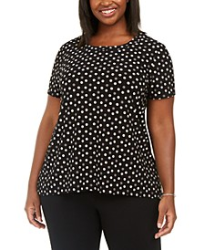 Plus Size Polka-Dot Blouse