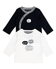 Mac & Moon Baby Boy and Girl 2-Pack Long Sleeve Tees