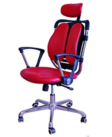 Tribeca Office Ergonomic Adjustable Chair with Fixed Handles