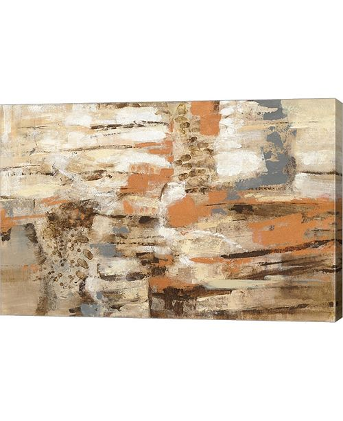 """Metaverse Copper and Wood by Silvia Vassileva Canvas Art, 30"""" x 20"""""""