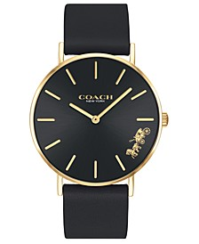 Women's Perry Black Leather Strap Watch 36mm