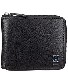 Men's RFID Zip Around Wallet