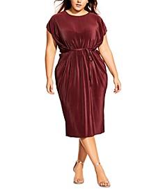 Trendy Plus Size Baby-Pleat Midi Dress