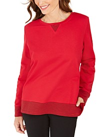Sport Contrast-Hem Sweatshirt, Created For Macy's
