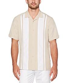 Men's Big & Tall Regular-Fit Embroidered Panel Shirt