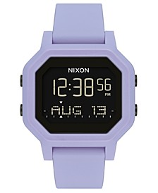 Unisex Digital Siren Silicone Strap Watch 38mm