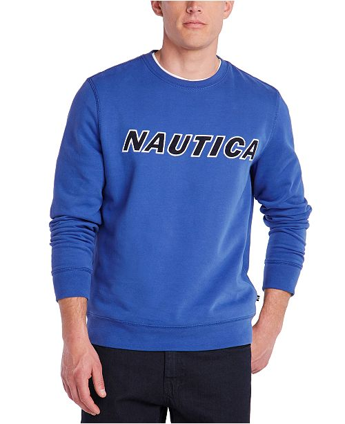 Nautica Men's Fleece Logo Graphic Sweatshirt