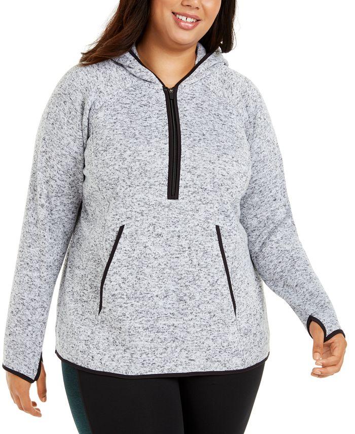 Ideology - Plus Size 1/2-Zip Fleece Hoodie Jacket