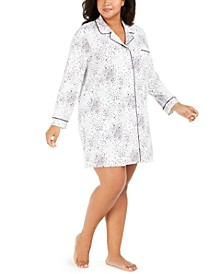 Plus Size Printed Sleepshirt, Created For Macy's