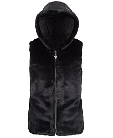 Big Girls Hooded Faux-Fur Puffer Vest