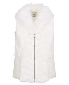 Big Girls Faux-Fur & Faux-Leather Vest
