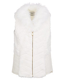GUESS Big Girls Faux-Fur & Faux-Leather Vest