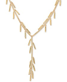 "Beaded Dangle 17"" Lariat Necklace in 14k Gold"