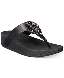 Lottie Corsage Thong Sandals