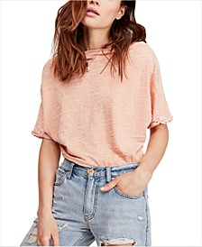Off-The-Shoulder Burnout T-Shirt