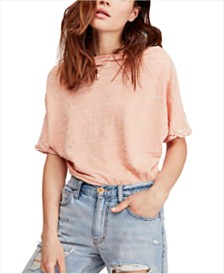 Free People Off-The-Shoulder Burnout T-Shirt