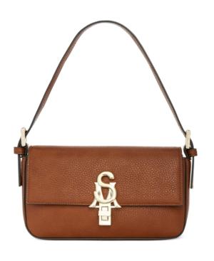 Steve Madden Stevete Shoulder Bag In Cognac/Gold