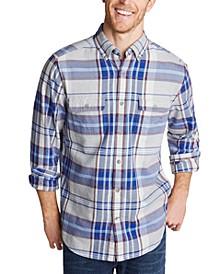Men's Classic-Fit Stretch Plaid Flannel Shirt