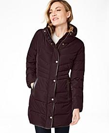 Petite Faux-Fur-Lined Puffer Coat
