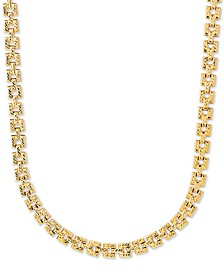 """Panther Link 17"""" Chain Necklace in 10k Gold"""