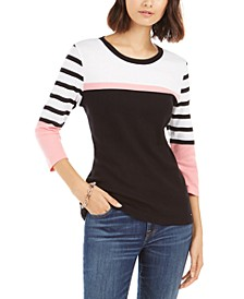 Multi-Striped Cotton Top