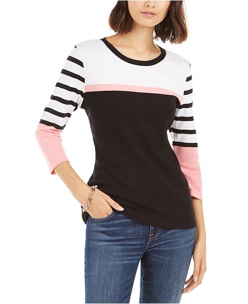 Tommy Hilfiger Multi-Striped Cotton Top