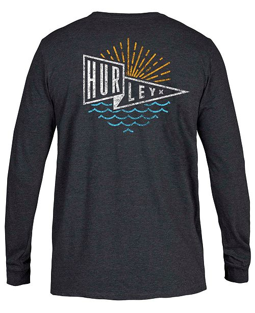 Hurley Men's Graphic Long-Sleeve T-Shirt