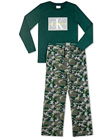 Big Boys 2-Pc. Logo Fleece Pajamas Set