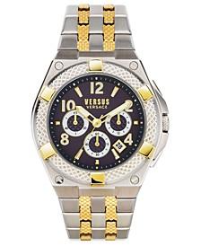 Men's Chronograph Estéve Two-Tone Stainless Steel Bracelet Watch 46mm