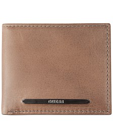 Men's RFID Leather Passcase Wallet