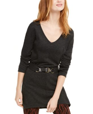 INC Belted Tunic Sweater, Created For Macy's