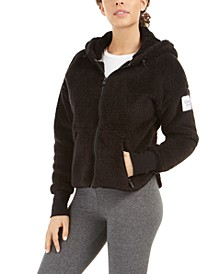 Drop-Shoulder Fleece Jacket