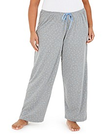 Plus Size Scribble Pajama Pants