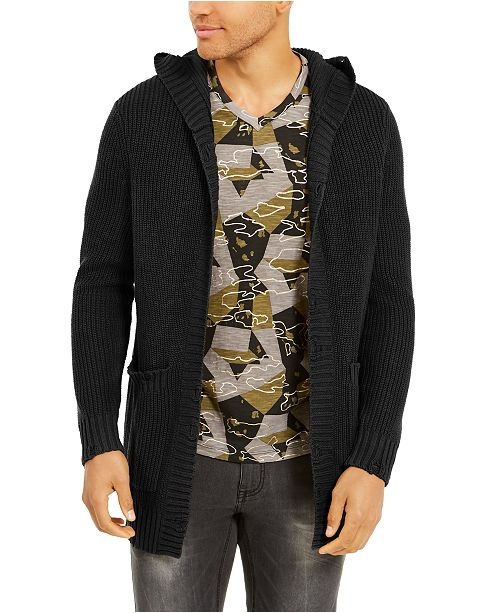 INC International Concepts INC Men's Hooded Cardigan, Created For Macy's