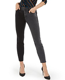 INC Two-Tone Skinny Jeans, Created for Macy's