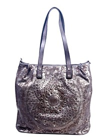 Stars Align Leather Tote Bag