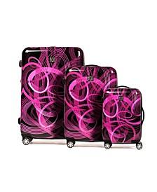 Printed 3-Pc. Nested Hardside Spinner Luggage Set
