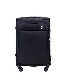 """FUL Flemington 25"""" Soft Sided Rolling Luggage Suitcase"""