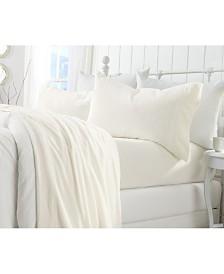 Great Bay Home Extra Soft Cozy Velvet Plush Solid Full Sheet Set