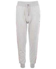 Champion Big Girls French Terry Taped-Trim Jogger Pants