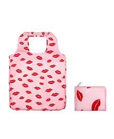 New York Lips Reusable Shopper Tote with Pouch